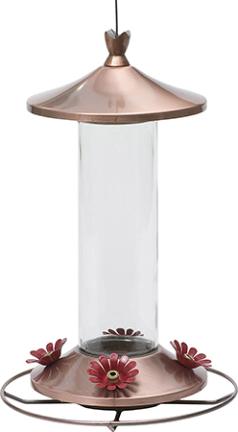 710B FEEDER HUMMINGBIRD 12 OZ COOPER/GLASS