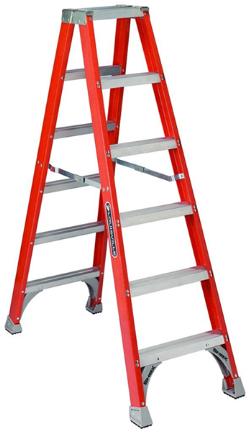 Fm1508 Ladder 8ft Twinfront Fiberglass Ste Products
