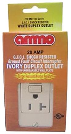 Tr-20-w 20 Amp White Gfci
