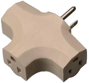 099029723 POWER ADAPTER 3 OUTLET BEIGE