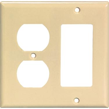 2157W-BOX WHT GFCI   DUPLEX COVER PLATE