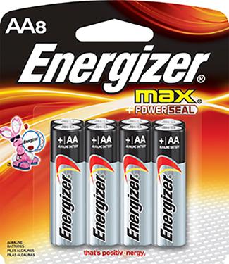 E91mp-8 Enr Max Alkaline Aa 8 Pk