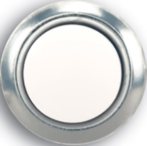 Sl-455-02 Button Lighted Recessed Gold Rim