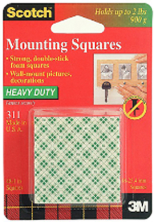 311p 48pk 1 In X 1 In Scotch Mounting Squares