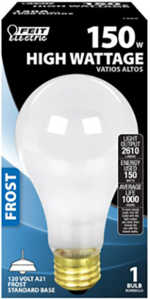 150A 150W FROST BULB 120V FROSTED BULB
