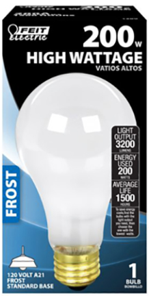 200A 200W LARGE LAMP A FROST