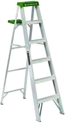 AS4006 LADDER 6FT  ALUMINUM STEP