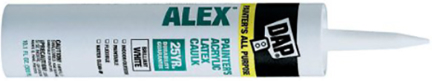 18670 CAULK 10.1OZ WHITE LATEX PAINT