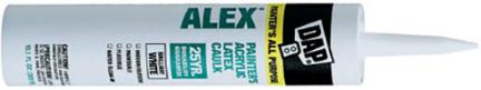 18670 Caulk 10.1oz White Latex Paint