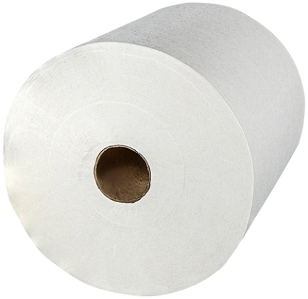 02000 WHITE ROLL TOWEL 6 ROLLS/CT 8 X950