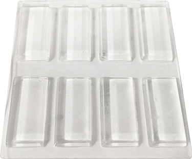9963 Pad Rectangle 1/2 In X 1 In Clear