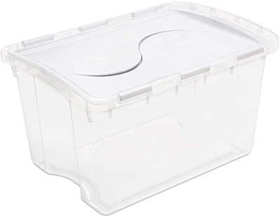 19148006 STORAGE TOTE HINGED LID 48 QT CL