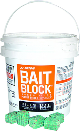 704pn Rodenticide Bait Blocks Pail 64 Pc 1 Oz
