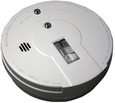 44037602 SMOKE DETECTOR W/SAFETY LIGHT 5 IN WT