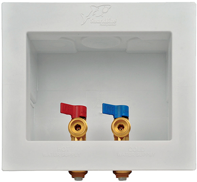 24763 1/2   Washing Mach Ine Outlet Box W/ (2) S/