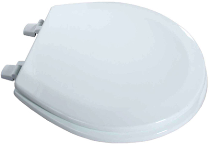 050 1044WT TOILET SEAT WHITE BEVELED WOOD