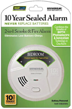 MIB3050S SMOKE DETECTOR 2 N 1 10 YR BATTERY WT