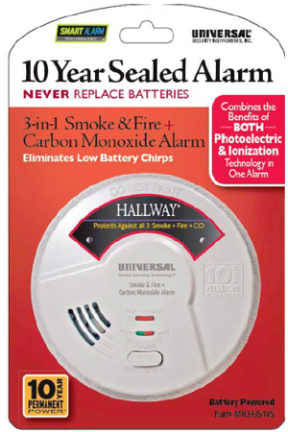 MICH3510S SMOKE DETECTOR 3 N 1 10 YR BATTERY WT