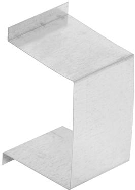 853170 GALVANIZED BOX RAIL ENDCAP
