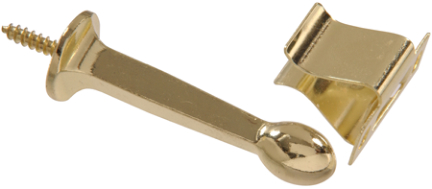 852343 Brass Plated Rgd Door Stop