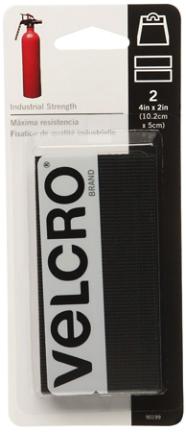 90199SB VELCRO® Brand 2X 4 STICKY BLK STRIPS 2/CD