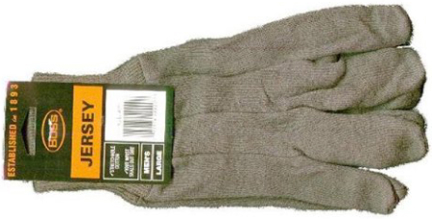 4023 GLOVES JERSEY BROWN 3PR/PK