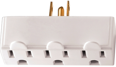 BP1147LTW-SP LIGHTED TRIPLE GROUND TAP WHT CO