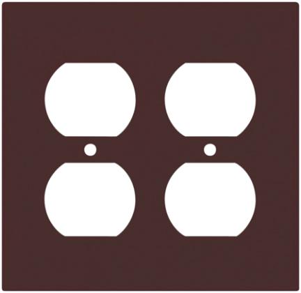 2150W-BOX 2G DUPLEX PLATE WHT