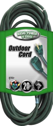 02352-05 Outdoor Cord 16/3awg Sjtw Gn 20 Ft