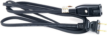 HC 100506 6  18/2 BLK APPLIANCE CORD