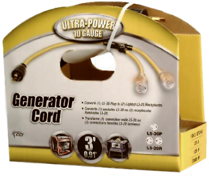 01915-88-02 Generator Cord 10/3 3