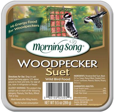 11462 BIRD SUET WOODPECKER MS 12/9 1/2 O