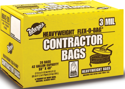 Hbp42-201 Trashbag 42gal Contractor 20ct