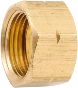 730261-10 Nut Yellow Brass 5/8 In