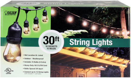 72041 STRING LIGHT SET OUTDOOR 30 FT 15 BULBS