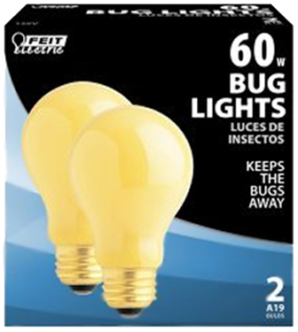 60A/Y/2 60W YELLOW BUG LIGHT 2/PK