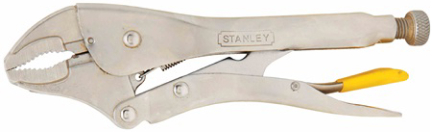 84-809 STANLEY PLIERS 9 IN CRVD JAW LOCKING