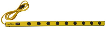 5153 Power Strip 36 In 9 Outlet Yellow Jacket