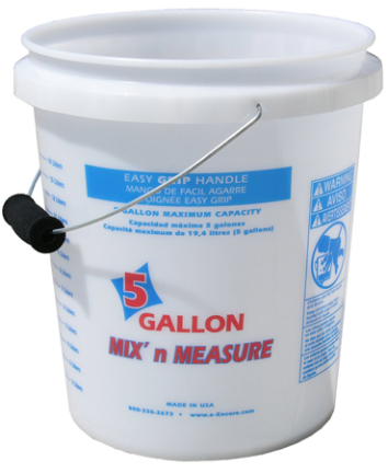 56511 CONTAINER 5 GAL CL  MIX N MEASURE