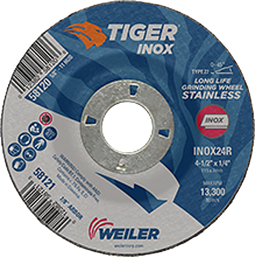 58121 Grinding Wheel 4 1 /2 In Inox 24r Type 27