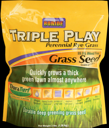 60272 GRASS SEED TRIPLE PLAY RYE 3 LB (60271)