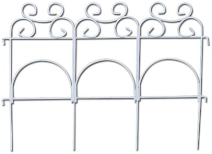 89306 Decor Fold Fence-14  Wht