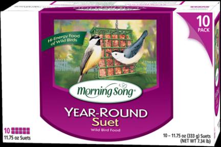 11886 BIRD SEED SUET YEAR ROUND MS 10 PK