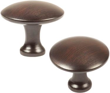 42001 CABINET KNOB 1 1/4 IN OR BRONZE