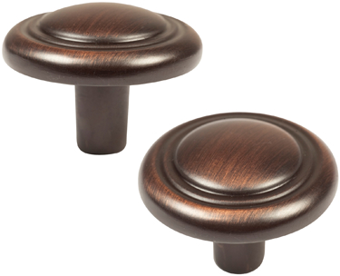 42003 CABINET KNOB 1 1/4 IN OR BRONZE