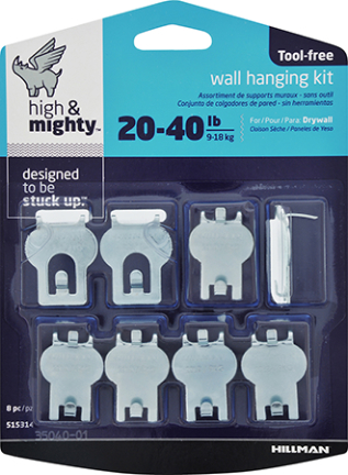 515314 Picture Hanger 20 40 Lb Asst 8pc Products The Bostwick