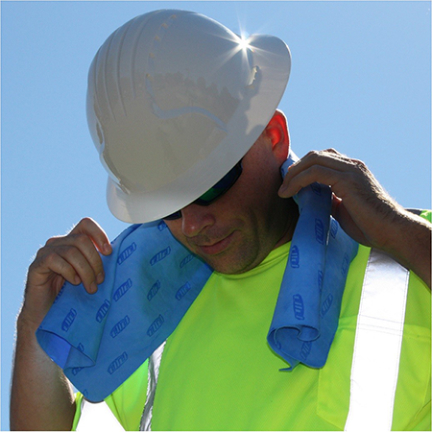 396-602-b Cooling Towel 12 In X 31 In Bl