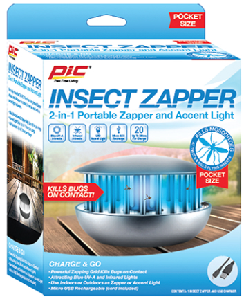 PBZ INSECT ZAPPER 2 IN 1 PORTABLE ACCENT LIGHT