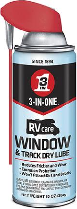 120091 WINDOW/TRACK DRY LUBE 3-IN-ONE RV 11 OZ