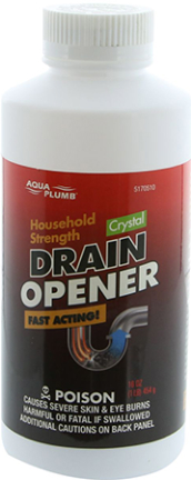 5170510 DRAIN OPENER HOUSEHOLD 1 LB CLEAR